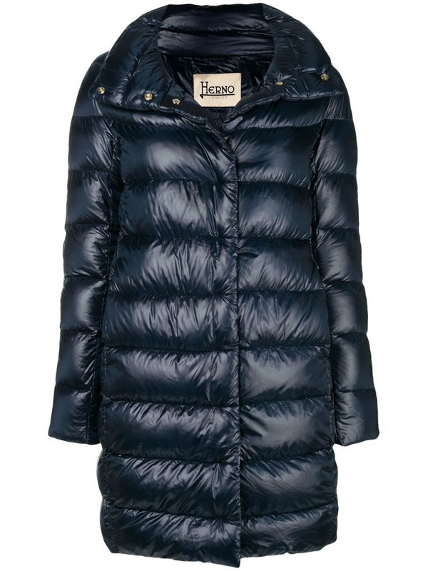 Herno feather down puffer jacket in blue