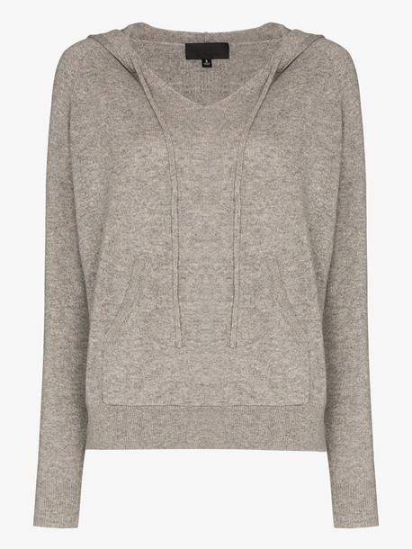 Nili Lotan Albany hooded cashmere sweater in grey