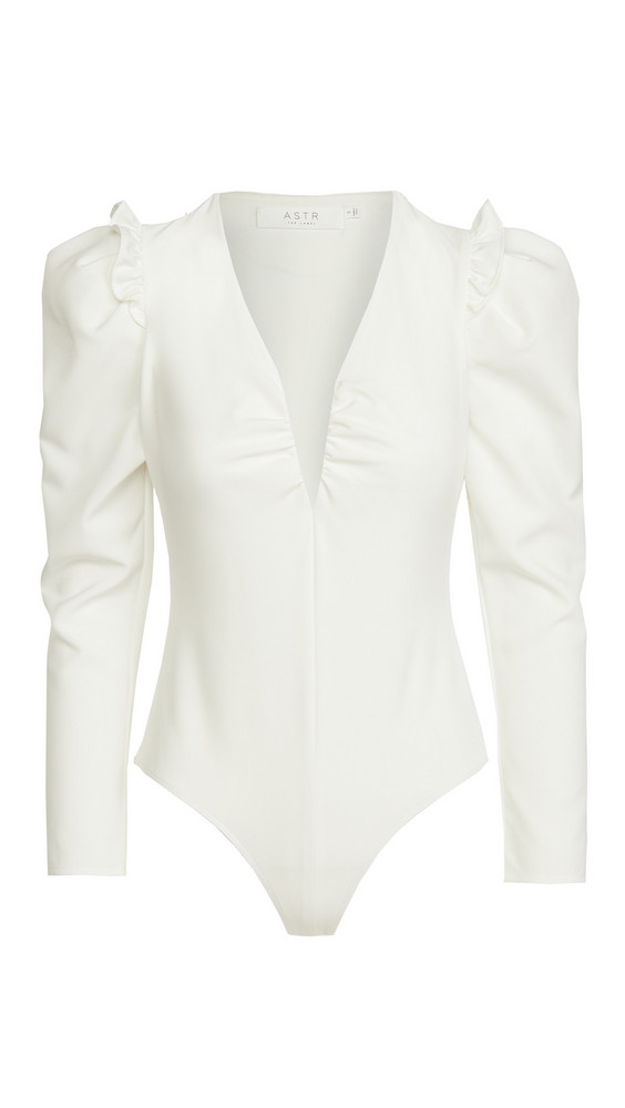 ASTR the Label Amora Thong Bodysuit in white