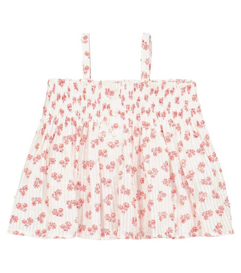 Bonpoint Baby Abricot floral cotton top in white