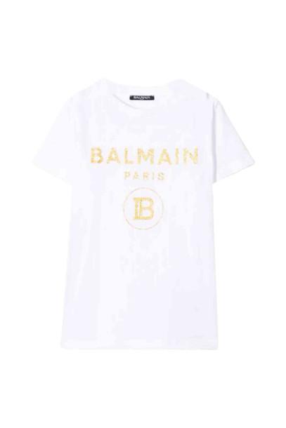 Balmain Cotton T-shirt in bianco