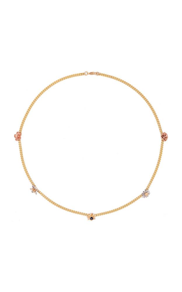 Bernard James Flora 14K Gold Diamond Choker Necklace in multi