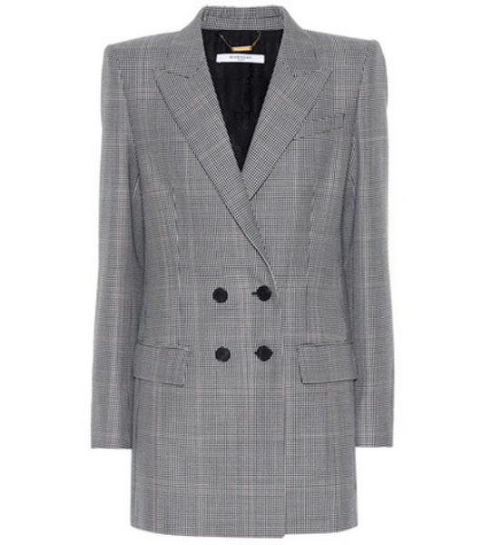 Givenchy Plaid wool and mohair blazer in grey