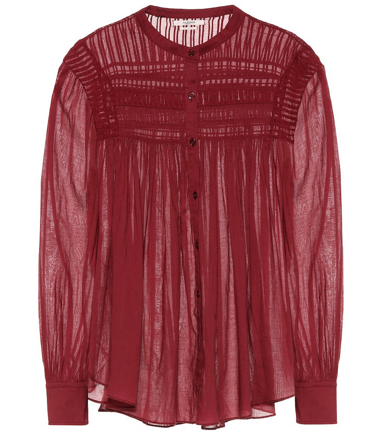 Isabel Marant, Étoile Plalia cotton voile blouse in red