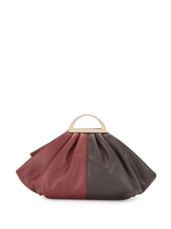 The Volon small shell clutch bag in red