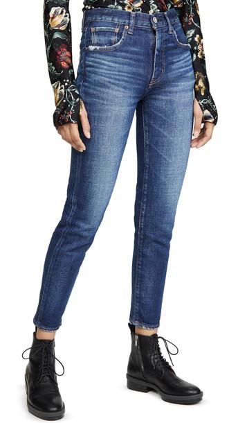 MOUSSY VINTAGE Cameron Skinny-Hi Jeans in blue