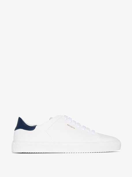 Axel Arigato white and blue clean 90 leather sneakers