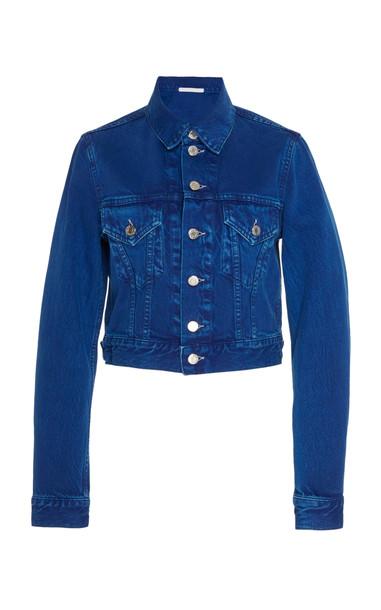 Helmut Lang Cropped Denim Jacket in blue