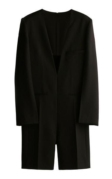 GIA STUDIOS Tailored Cady Jumpsuit in black
