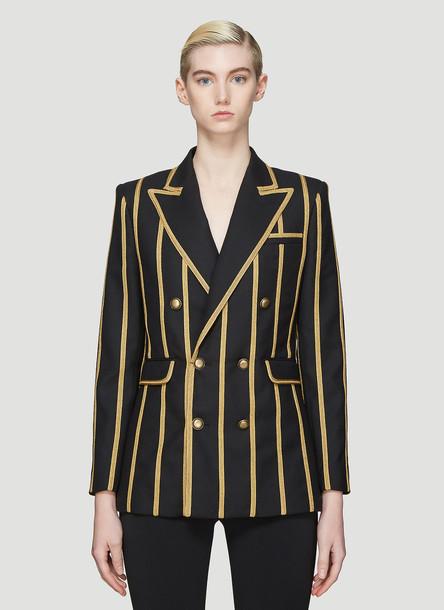 Saint Laurent Striped Blazer in Black size FR - 34