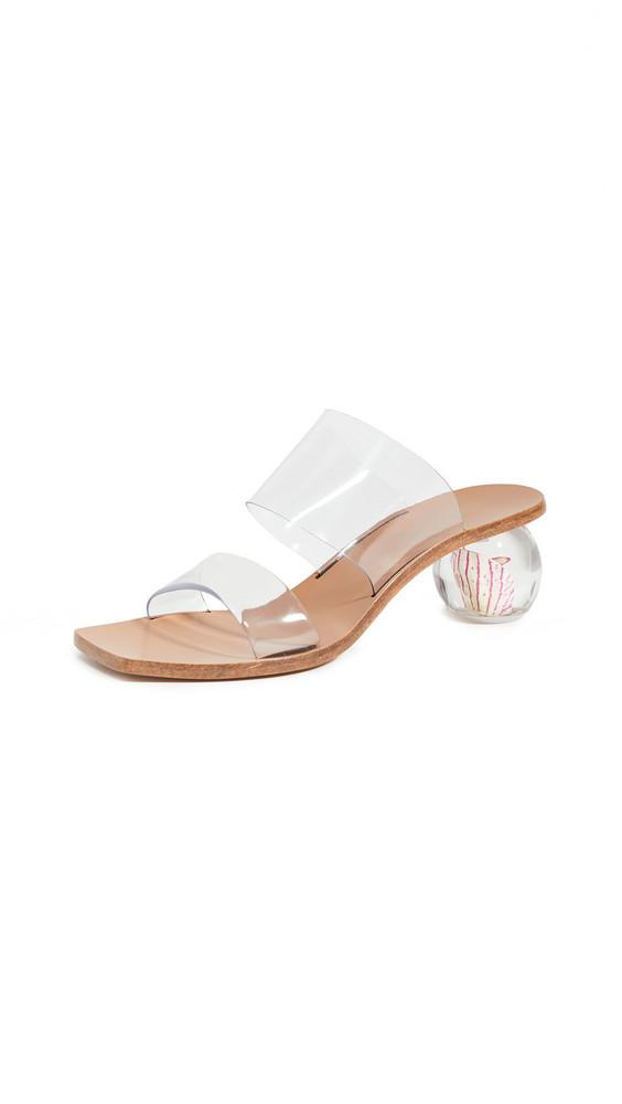 Cult Gaia Jila Flower Heel Sandals in clear