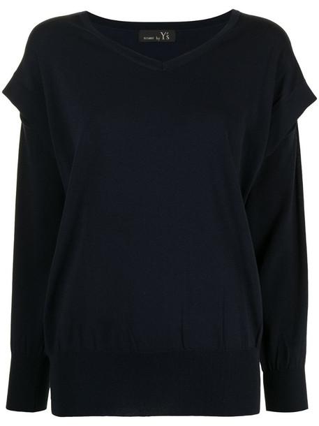 Y's split-sleeve jumper in blue