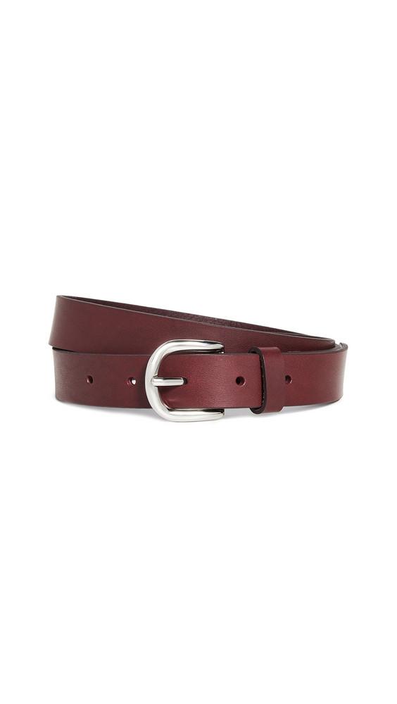 Isabel Marant Zap Belt in burgundy