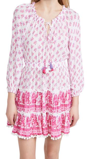 Playa Lucila Long Sleeve Minidress in pink / multi