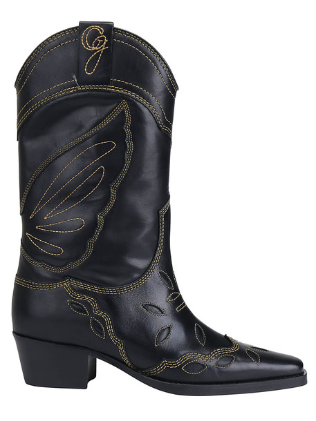 Ganni Texas Boots in black