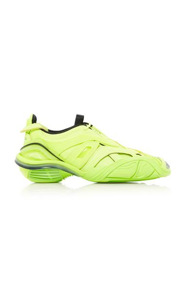 Balenciaga Tyrex Mesh-Detailed Rubber Sneakers in yellow