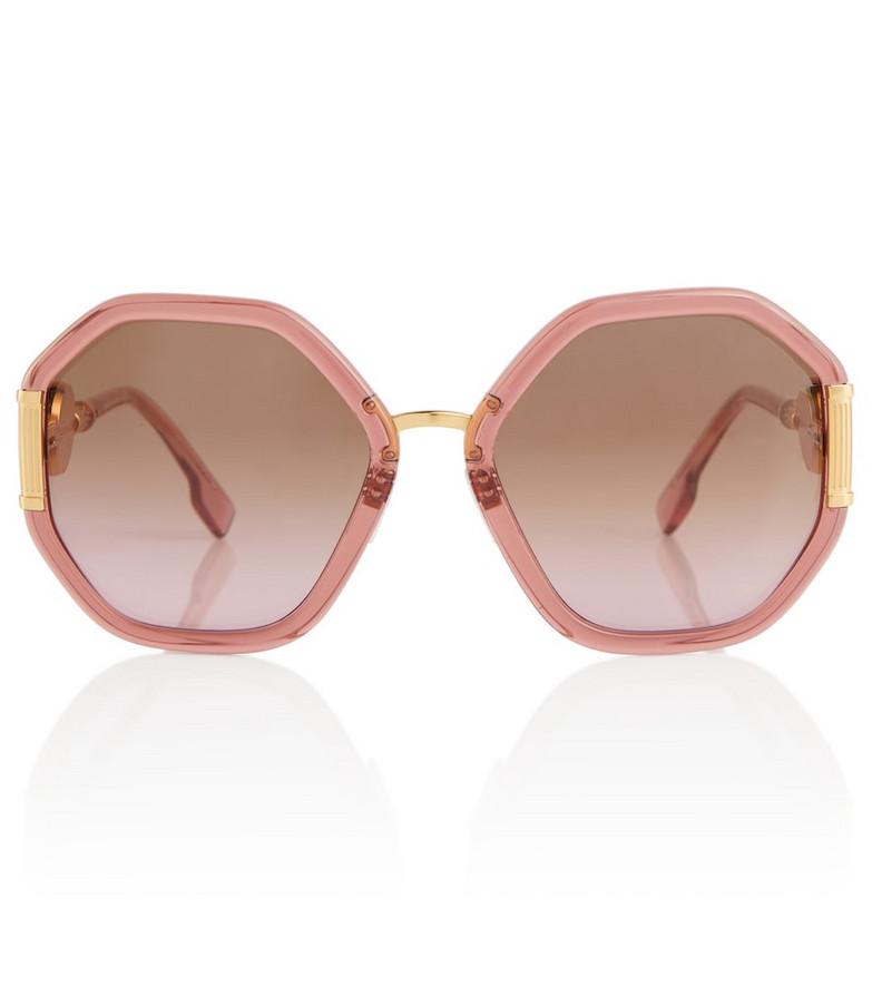 Versace Oversized octagonal sunglasses in pink