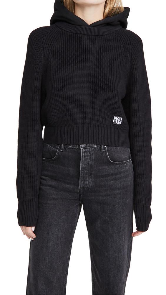 alexanderwang.t Utility Hoodie Sweater in black