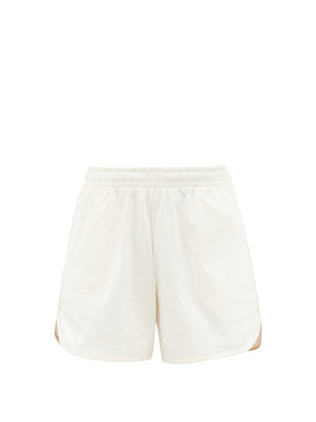 Vaara - Teller Wide-leg Cotton-jersey Running Shorts - Womens - White