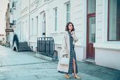 kapuczina,blogger,dress,coat,shoes,bag