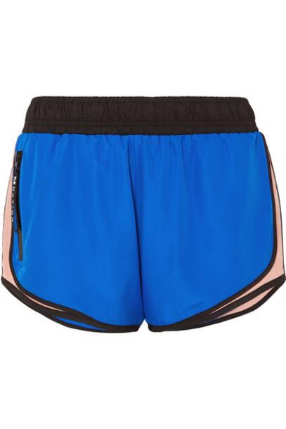 P.E NATION - Sprint Vision Color-block Shell Shorts - Blue