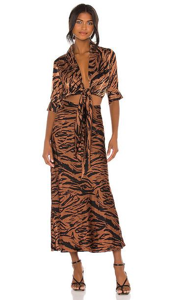 Ronny Kobo Carol Dress in Brown