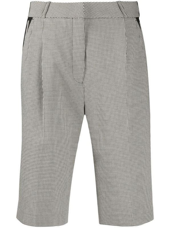 Coperni houndstooth print shorts in white