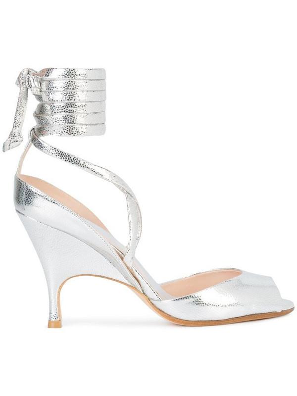 Alchimia Di Ballin wrap tie ankle sandals in metallic