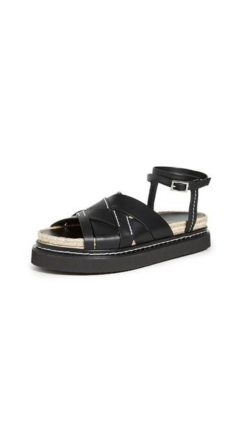 3.1 Phillip Lim Yasmine Espadrille Platform Sandals in black