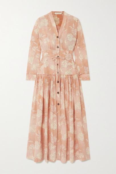 Chloé Chloé - Floral-print Silk Crepe De Chine Maxi Dress - Pink