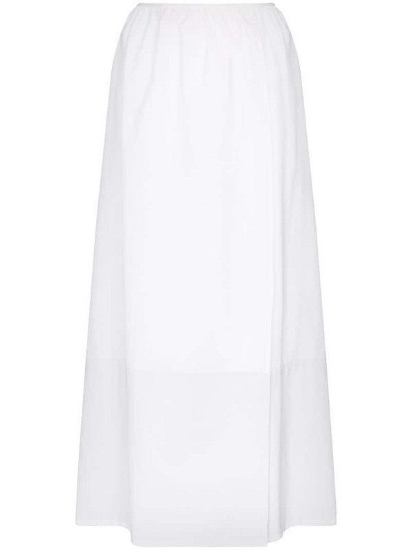 MARKOO gathered skirt in white