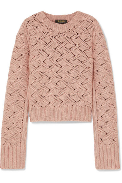 Loro Piana - Cable-knit Cashmere Sweater - Pink