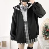 jacket,kawaii,japanese,seifuku,anime,school girl,sailor,jfahsion