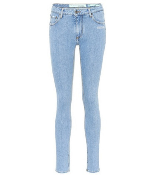 Off-White Mid-rise skinny jeans in blue