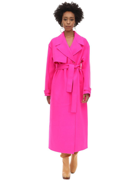 JACQUEMUS Virgin Wool Coat in fuchsia