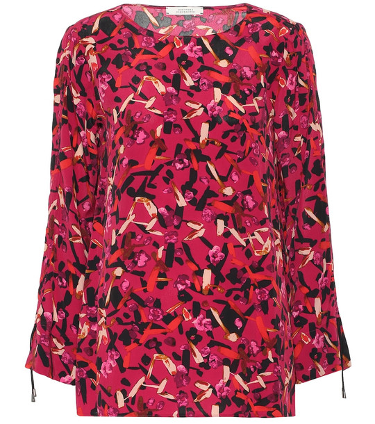 Dorothee Schumacher Exclusive to Mytheresa – Printed silk-blend blouse in pink