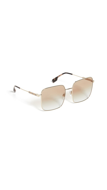 Burberry Jude B Stripe Sunglasses in brown
