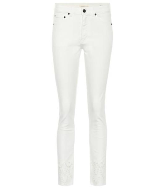 Saint Laurent High-rise slim jeans in white
