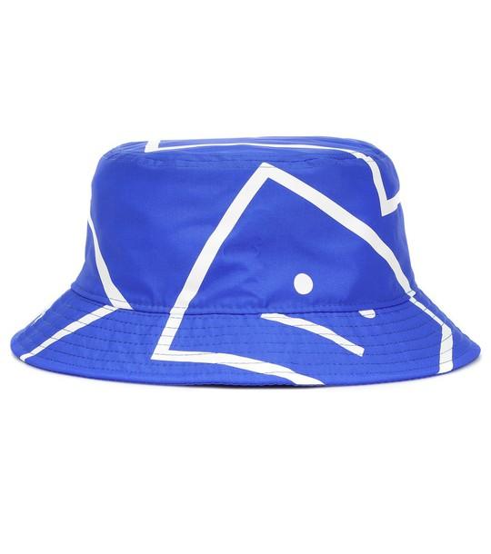 Acne Studios Face bucket hat in blue