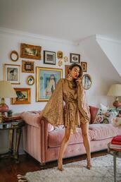 not jess fashion,blogger,dress,shoes,jewels,gold dress,pumps,party dress