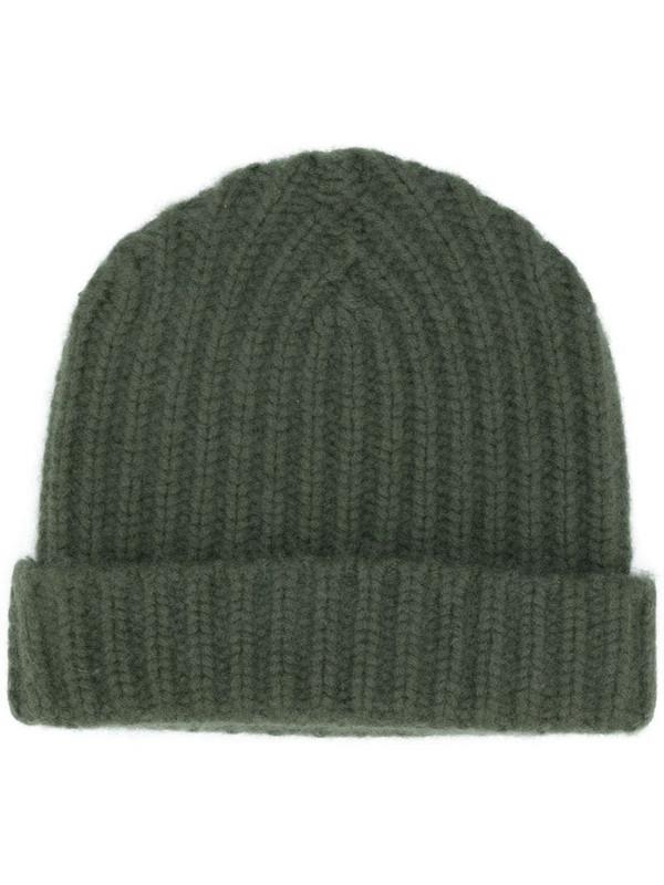 Warm-Me Alex cashmere beanie hat in green