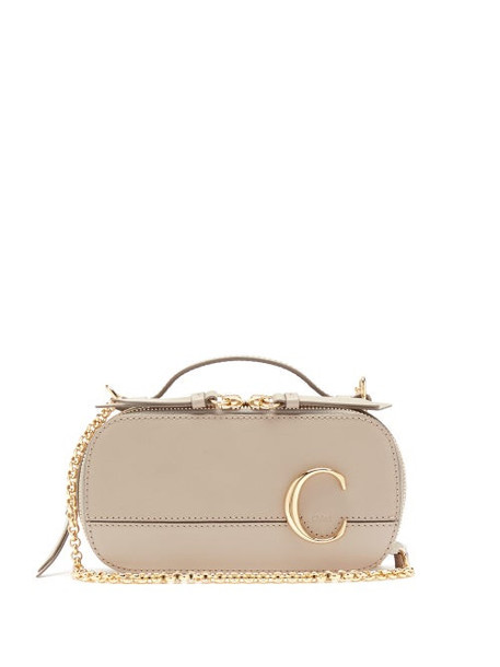 Chloé Chloé - The C Structured Leather Cross-body Bag - Womens - Grey