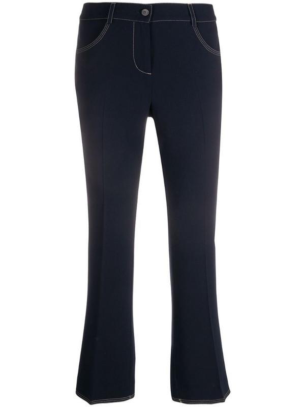 Alberto Biani low-waist flared jeans in blue