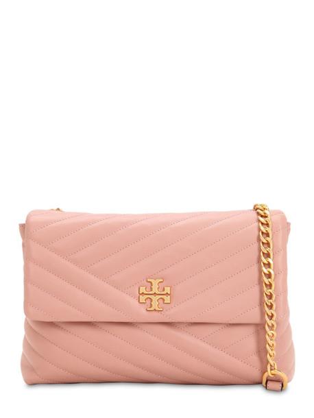 TORY BURCH Kira Leather Shoulder Bag in pink