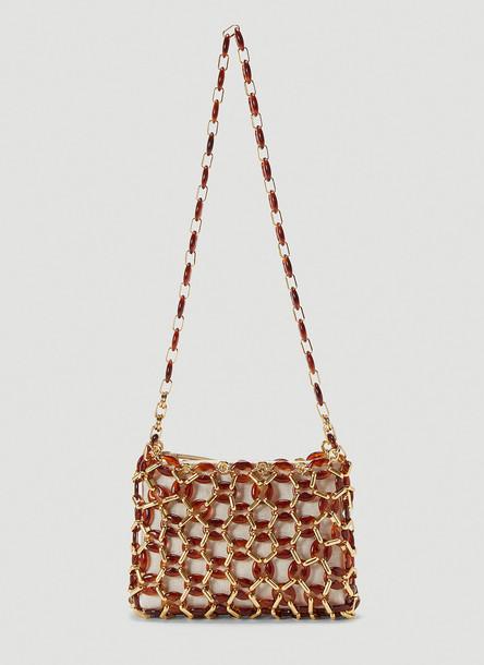 by FAR Capria Embellished Shoulder Bag in Brown size One Size