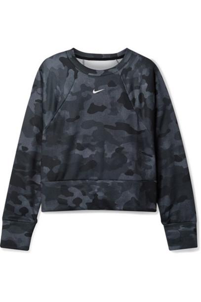 Nike - Rebel Camouflage-print Dri-fit Jersey Sweatshirt - Black