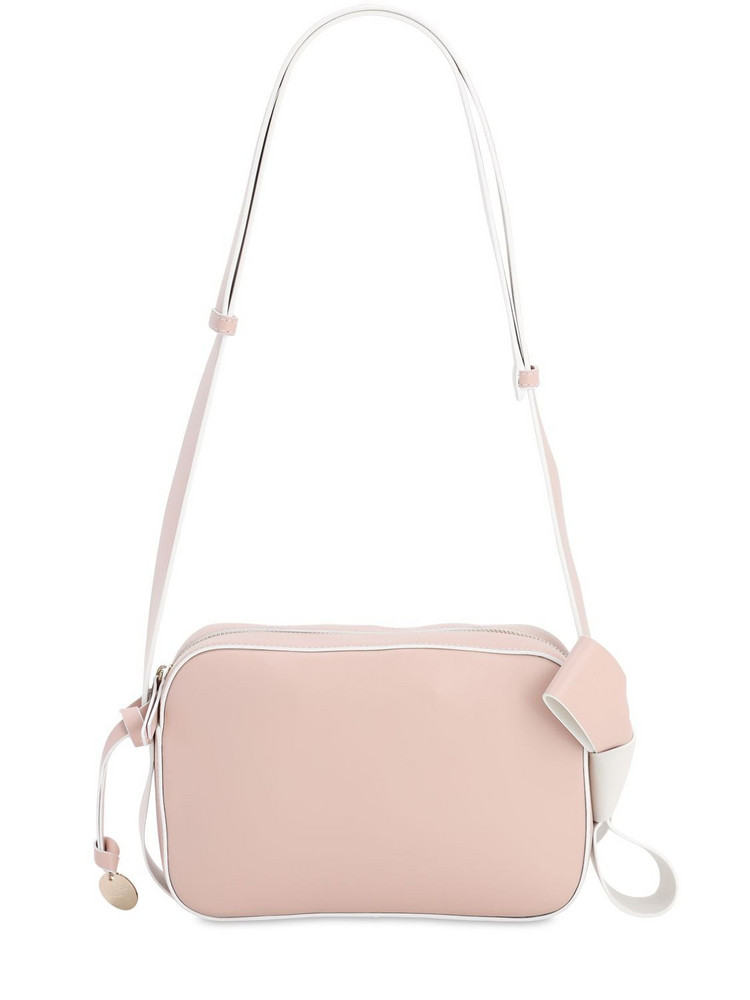 RED VALENTINO Leather Camera Bag in pink