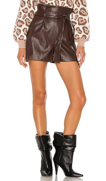 Amanda Uprichard Tessi Shorts in Brown