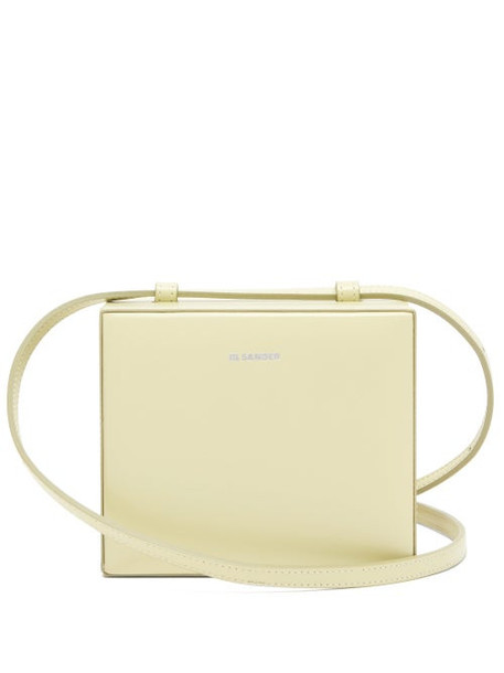 Jil Sander - Case Mini Leather Cross Body Bag - Womens - Light Green