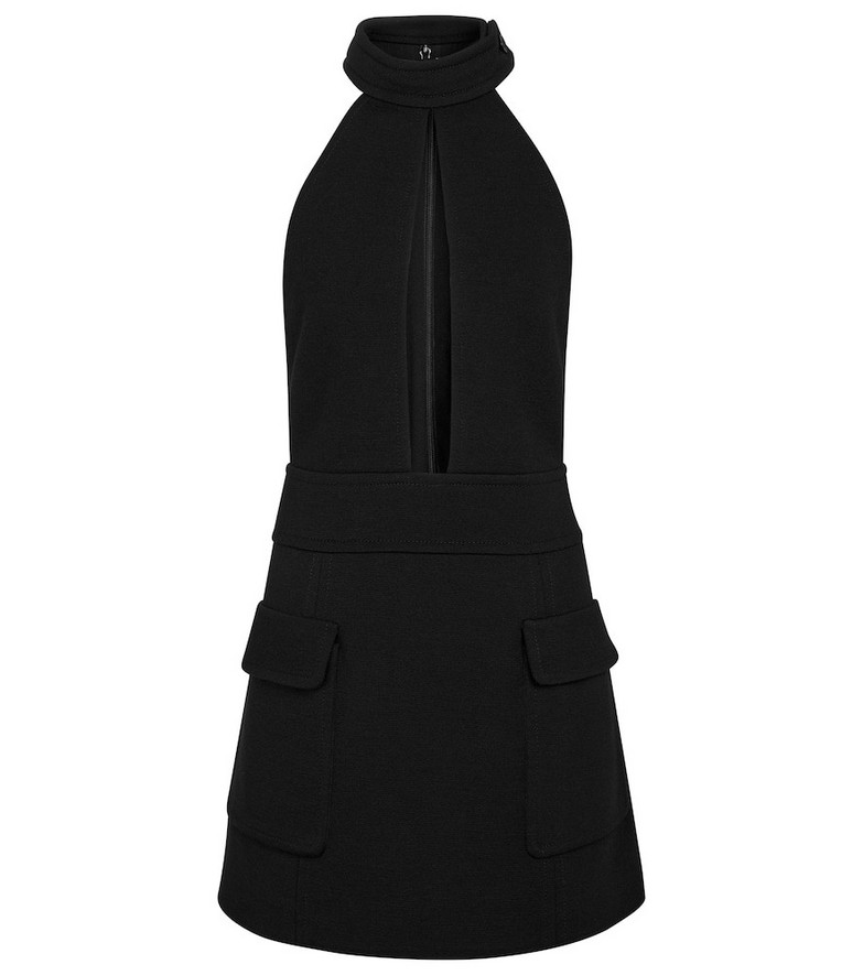Saint Laurent Wool-blend minidress in black